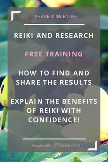 Sometimes, explaining what we do as reiki practitioners can be hard! Many of us feel that we are not taken seriously and we often have to deal with negative perceptions. Knowing how to explain the benefits with the back up of research evidence is a great professional skill to have. Sign up for this FREE online training or re-pin to register later.