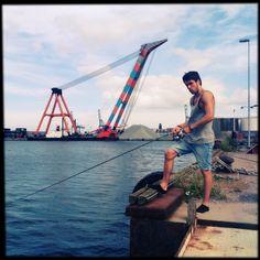 En fisketur med William på molen...