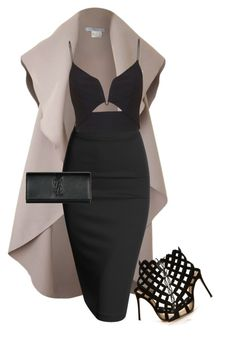 Untitled #65 by marinaisaac on Polyvore featuring polyvore, fashion, style, Zimmermann, Doublju, Gianvito Rossi, Yves Saint Laurent and clothing