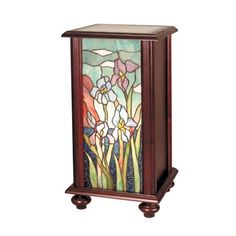 Dale Tiffany TA101346 Lighted Pedestal Floor Lamp, Cherry