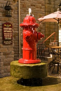 Custom water fountain by The Ohio Valley Group Semarang, Balcony Design, Garden Design, Firefighter Decor, Firefighter Pictures, Indoor Water Garden, Magic Garden, Lawn Sprinklers, Olive Garden