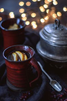 Tea with orange, cranberry and cloves
