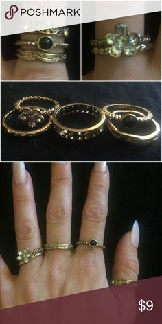 5 ring set Five different rings to mix and match for different looks Jewelry Rings