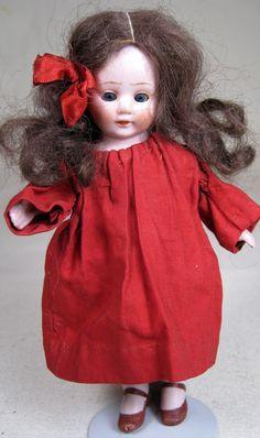 Amberg All Bisque Downward Gazing Girl German Doll