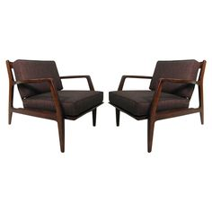 Pair of Danish Modern Lounge Chairs by Ib Kofod-Larsen 1