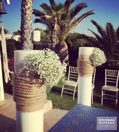 | Beautiful Sunset Wedding | Βασίλης & Κωνσταντίνα | #greekwedding #sunsetwedding #weddingdecor #churchdecor #weddingflower #myconianglyfadawedding