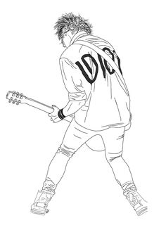 5sos Drawing, 5sos Fan Art, Tumblr Outline, 5sos Wallpaper, 5sos Imagines, What To Draw, Outline Drawings, Michael Clifford, 1d And 5sos