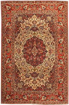 View this beautiful Antique Esfahan Persian Rug 43281 from Nazmiyal's fine antique rugs and decorative carpet collection.
