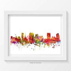 Birmingham Poster Birmingham Skyline Birmingham by Agedpixel
