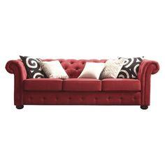 Found it at AllModern - Ivy Tufted Button Linen Sofa