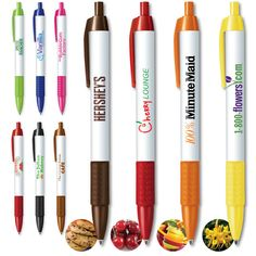 Snifty Pen Classic Series! Your promo can smell like over 30 scents! Some include chocolate chip cookie, strawberry, fruit punch, cherry, and even glazed donut! Starting as low as $0.95!   Contact @Promo Pug to order!  #custom #promotional #pens #coolitems