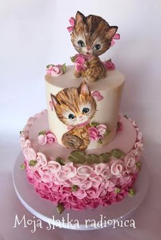 Kittens cake  by Branka Vukcevic