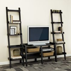 The Container Store > Java Linea Leaning Media Stand