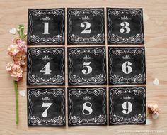 無料印刷可能な黒板の結婚式のテーブル番号botanicalpaperworks.comから - これらはどのように素晴らしいです