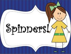 """FREE MATH LESSON - """"Spinner For ANY Game"""" - Go to The Best of Teacher Entrepreneurs for this and hundreds of free lessons.   Pre-Kindergarten - 4th Grade  #FreeLesson  #Math  http://www.thebestofteacherentrepreneurs.net/2014/01/free-misc-lesson-spinners-for-any-game.html"""