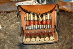 """I based the design of these Cartridge Boxes on the old """"McKeever Boxes"""" With the help of good friend and customer Mr. Cartridges are carried Silent, Secure and Well Sewing Leather, Leather Pattern, Leather Craft, Leather Pouch, Leather Tooling, Henry Rifles, Custom Leather Holsters, Ammo Storage, Kydex Holster"""