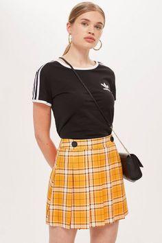 be5669272 Summer Check Kilt Mini Skirt - Clothing- Topshop Fast Fashion, Summer Tops,  Tartan