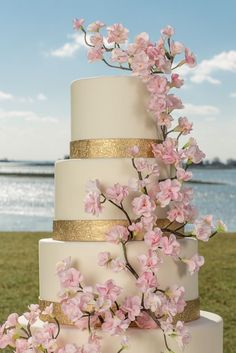 For the Love of Cake! by Garry & Ana Parzych: Cherry Blossom Wedding Cake, Westport, CT