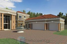 A Luxury 5 Bedroom Double Storey House Plans For Sale House Plans For Sale, Unique House Plans, Modern House Floor Plans, House Plans With Photos, Contemporary House Plans, Luxury House Plans, 6 Bedroom House Plans, 4 Bedroom House Designs, House Plans Mansion
