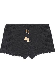 She Made Me Oh Girl crocheted cotton shorts | NET-A-PORTER
