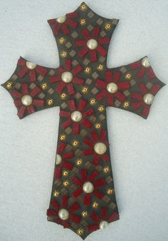 Mosaic Cross by Broken Beauty Mosaics by BrokenBeautyMosaics, $89.00