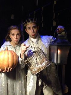 Laura Osnes and Santino Fontana backstage at Cinderella