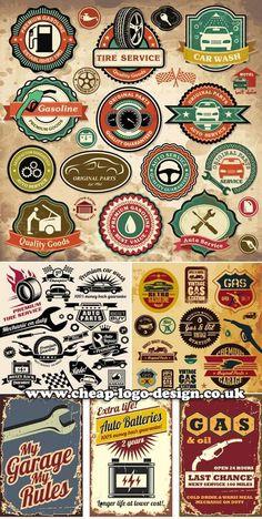 retro style auto logos www.cheap-logo-design.co.uk #autologos #logodesign #carlogos