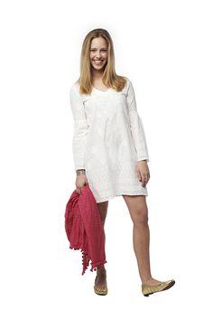 #Classic #dress Eyelet Dress, Warm Weather, White Dress, Slip On, Classic, How To Wear, Dresses, Design, Fashion