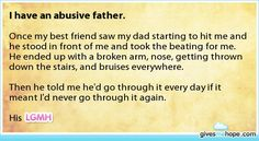 Amazing friends - I have an abusive father.