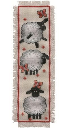 Cross stitch sheep | ... sheep bookmark you are here cross stitch permin cross stitch kits. No pattern.