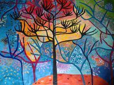 "Saatchi arte artista Irene Guerriero;  Pintura, ""Gran Encuentro"" #art"
