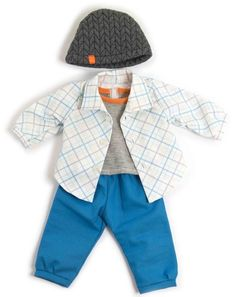 Miniland: Doll Outfit - Blue Spring Set Kids Dolls, Child Doll, Baby Dolls, Mighty Ape, Blue Springs, Electronic Gifts, Lower Case Letters, Lowercase A, Social Skills