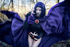 My turn on teen titan's character Raven. I have changed some things about this cosplay recently which made the whole look differe. My mind is never troubled [Raven Teen Titans] Teen Titans Cosplay, Dc Cosplay, Best Cosplay, Cosplay Girls, Cosplay Costumes, Cosplay Outfits, Teen Titans Raven, Amazing Cosplay, Amazing Costumes