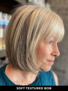 Don't miss this fresh soft textured bob for the makeover you've been wanting! See what stylists are saying about this look.   Bob Haircut   Bob with Bangs   Blonde Hair   Photo Credit: @xanderlyn_salon on Instagram