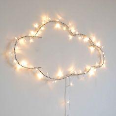 Illuminated cloud by Zoé Rumeau – diy kid room decor Kids Bedroom, Bedroom Decor, Cloud Lights, Ideias Diy, Neon Lighting, Wall Lighting, Kidsroom, Fairy Lights, Twinkle Lights
