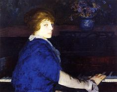 Emma at the Piano by George Bellows