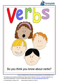 Free Teacher Resources – So You Think You Know About Verbs?