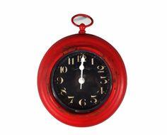 A Loja do Gato Preto | Relógio com Íman Vermelho #alojadogatopreto