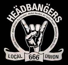 HEADBANGERS UNION LOCAL 666 SHIRT heavy metal L@@K MED new