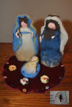 Nativity of wool felt