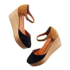 Madewell two-tone platform sandals.  I can't get enough two-tone black and beige.