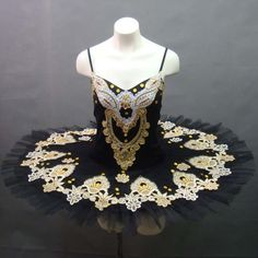 Black, yellow & ivory tutu