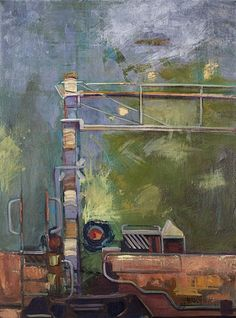 Carrollton Crossing  2012  mixed media on canvas  30 x 40 inches  $1750