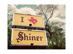 Shiner Bock, native Texas beer
