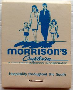 Morrison's Cafeterias #matchbook - To design & order your business' own logo #matches GoTo: GetMatches.com #phillumeny Own Logo, Cafeteria Food, Ocala Florida, Vintage Restaurant, Beer Coasters, Morrisons, Back In The Day, Childhood Memories, Growing Up