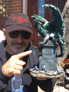 """My latest sculpture and figurine piece """"The Awakening Gargoyle Dragon"""" available on my webiste now. only a dozen in stock extremely limited all hand painted"""