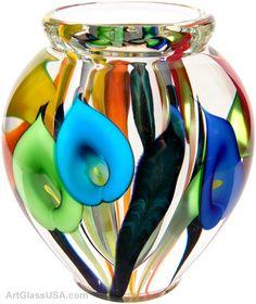 Calla lily vase - Rainbow