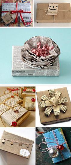 Ideas originales para envolver regalos en Navidad.