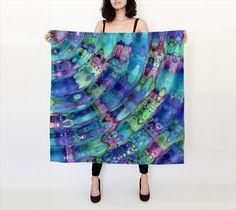 The Ripple Effect IX, Underwater - Silk Scarf, Large Square, 36x36