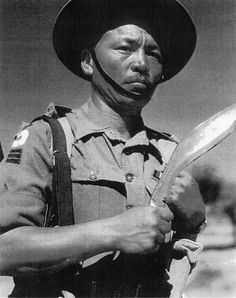 A Gurkha Havildar  Havildar in the 2nd Battalion of the 5th Royal Gurkha Rifles in the Indian Army during World War II